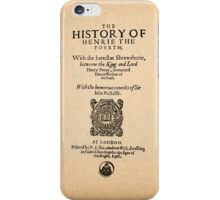 Shakespeare's Henry IV Front Piece iPhone Case/Skin
