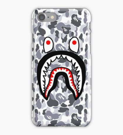 Shark Face White Camo iPhone Case/Skin