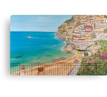 Vista su Positano Canvas Print