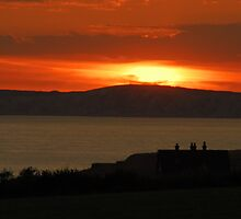 sunset over tennyson's monument by paul777