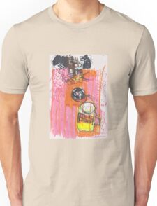 drawing of a bottle of beer in a cafe Unisex T-Shirt