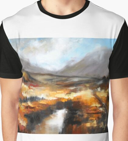 Iirsh landscape semi abstract  Graphic T-Shirt