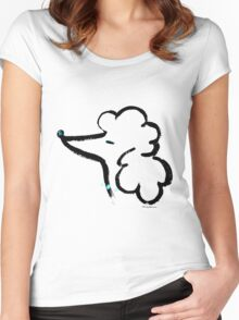 Poodle head Women's Fitted Scoop T-Shirt