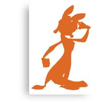 Daxter Silhouette - Orange Canvas Print