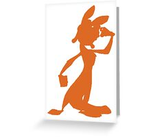 Daxter Silhouette - Orange Greeting Card