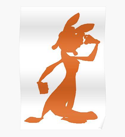 Daxter Silhouette - Orange Poster