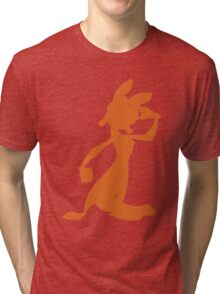 Daxter Silhouette - Orange Tri-blend T-Shirt