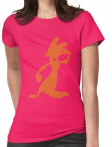 Daxter Silhouette - Orange Womens Fitted T-Shirt