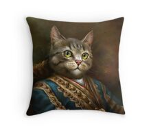 The Hermitage Court Outrunner Cat  Throw Pillow