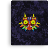 Majora's Mask Splatter (No Background) Canvas Print