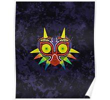 Majora's Mask Splatter (No Background) Poster