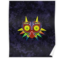 Majora's Mask Splatter (No Background) Poster