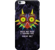 Majora's Mask Splatter (Quote No Background) iPhone Case/Skin