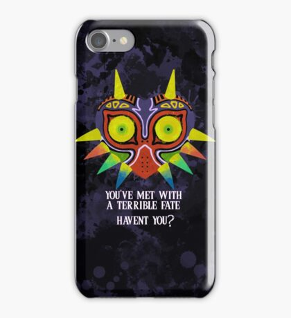 Majora's Mask Splatter (Quote No Background) iPhone Case/Skin