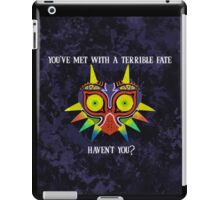 Majora's Mask Splatter (Quote No Background) iPad Case/Skin