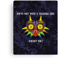 Majora's Mask Splatter (Quote No Background) Canvas Print