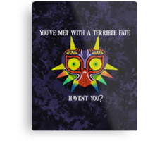 Majora's Mask Splatter (Quote) Metal Print