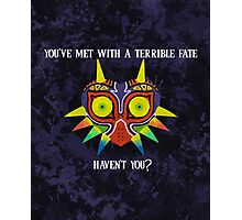 Majora's Mask Splatter (Quote) Photographic Print