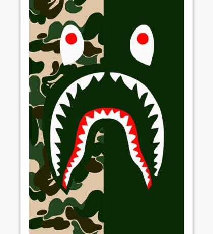 Bape Shark Camo Sticker