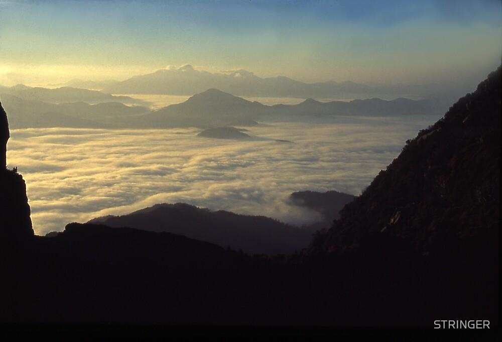 the Frenchmans Cap, sunrise west coast range. by STRINGER