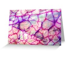 White Red Dragon Vein Agate Pattern Greeting Card