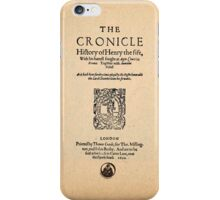 Shakespeare's Henry V Front Piece iPhone Case/Skin