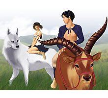 Ashitaka, San, Yakul and Moro's pup Photographic Print