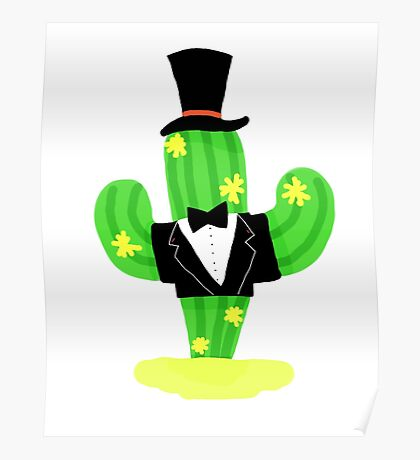 Well Dressed Cactus  Poster