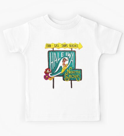 Hale'iwa North Shore Sign - WOMAN / DRAWING Kids Tee