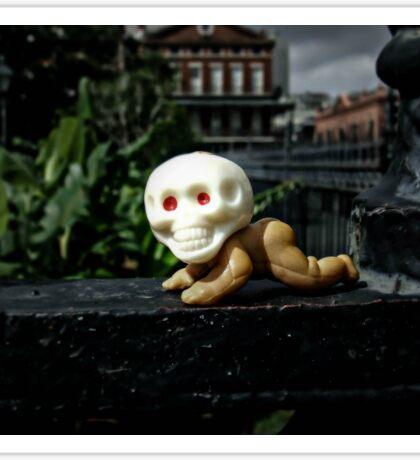 Skull Baby in Jackson Square Sticker
