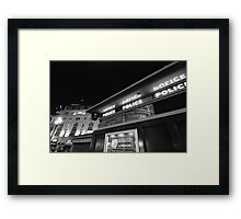 piccadilly police box Framed Print