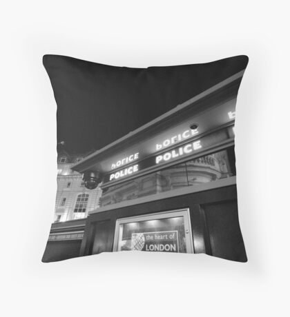 piccadilly police box Throw Pillow