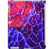 Red Blue Dragon Vein Agate Pattern iPad Case/Skin