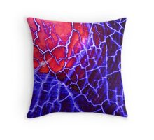 Red Blue Dragon Vein Agate Pattern Throw Pillow