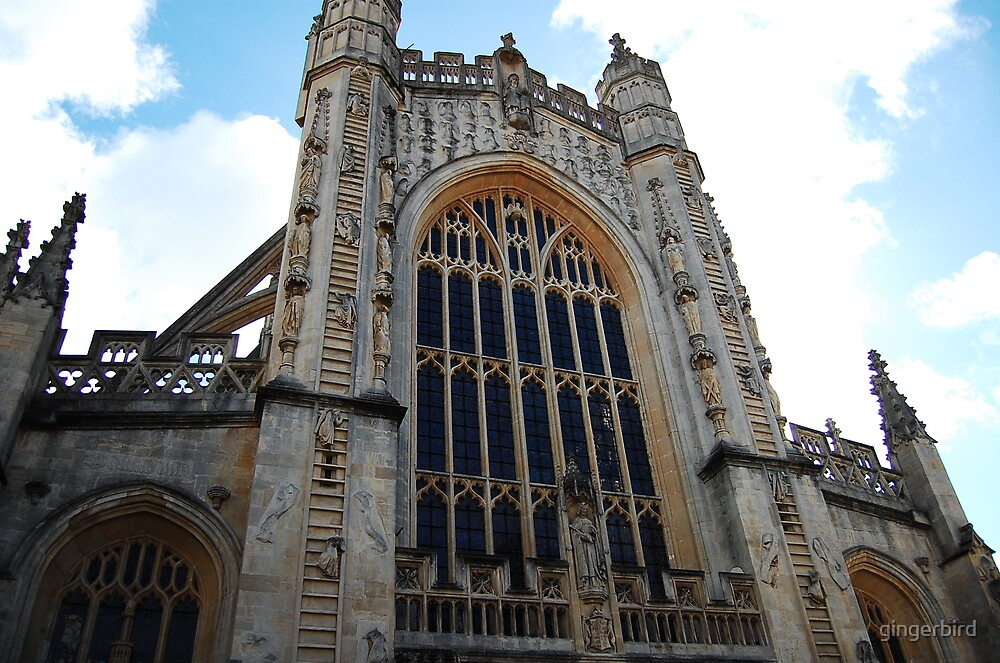 Bath Abbey front by gingerbird