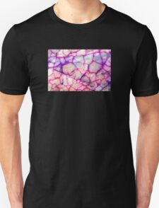 White Red Dragon Vein Agate Pattern T-Shirt