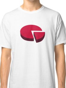 Pie chart diagram Classic T-Shirt