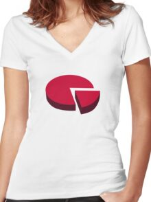 Pie chart diagram Women's Fitted V-Neck T-Shirt