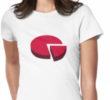 Pie chart diagram Womens Fitted T-Shirt