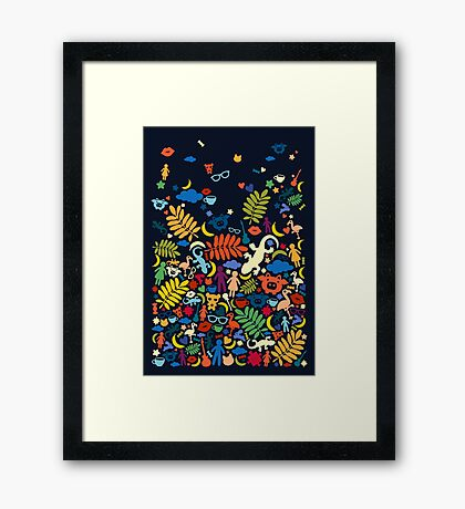 Colorful Paradise Framed Print