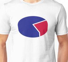 Pie chart diagram Unisex T-Shirt