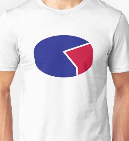 Pie chart diagram Unisex T-Shirt