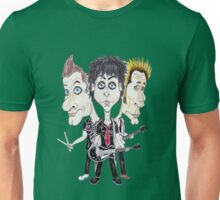Punk Rock Caricature Drawing Unisex T-Shirt