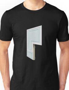 Glitch Homes Wallpaper babyblue molding right divide Unisex T-Shirt