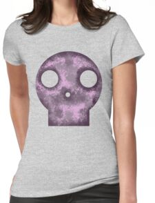 Purple Skull Decay Womens Fitted T-Shirt