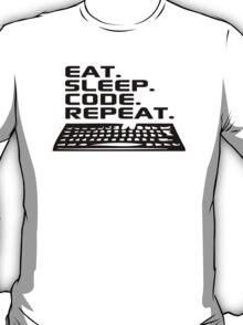 Awesome 'Eat. Sleep. Code. Repeat.' Coder T-Shirt and Accessories T-Shirt