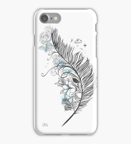 Feathers and clouds iPhone Case/Skin