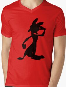 Daxter Silhouette - Black Mens V-Neck T-Shirt