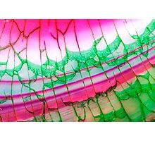 Pink Green Dragon Vein Agate Pattern Photographic Print