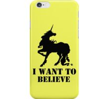 I believe in unicorns iPhone Case/Skin